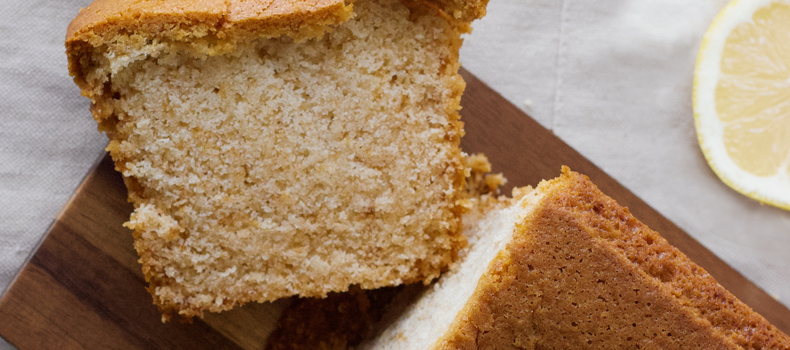 Diet friendly orange and poppy seed pound cake