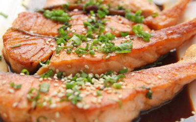Oven baked Teriyaki Salmon fillets